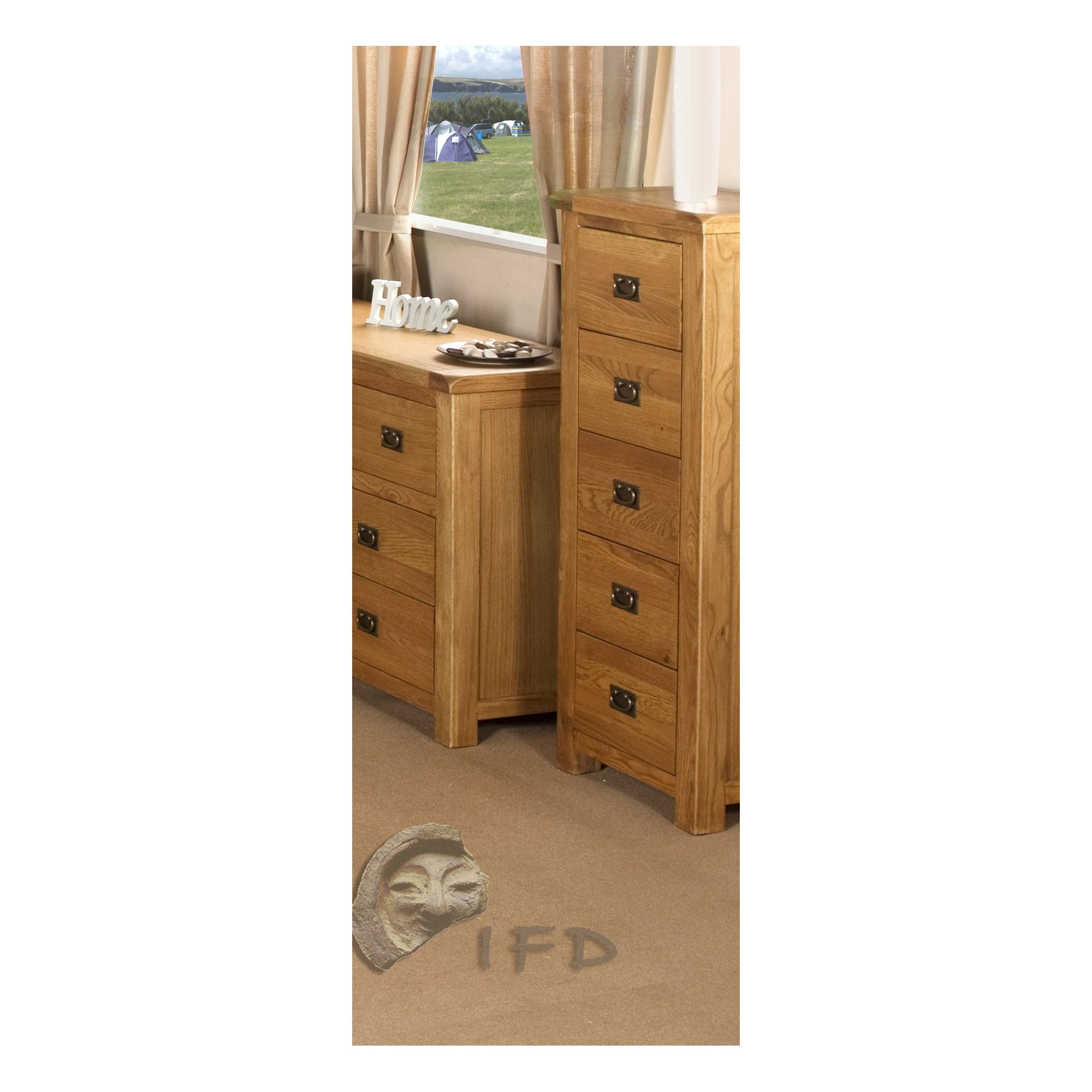 Elements Woodville Five Drawer Tall Chest at Tesco Direct