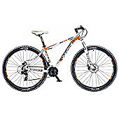 "19"" Whistle Patwin 1383D Mens' Bike, White/Orange"
