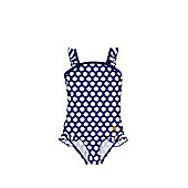 Zoggs Daisy Print Swimsuit - Navy & Yellow