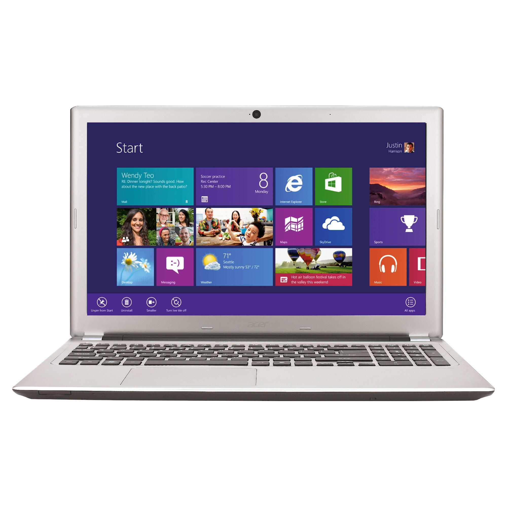 Acer V5-571 Inter Ci3-2365 8GB 750GB 15.6'' Silver at Tesco Direct