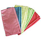 Harbour Housewares Microfibre Cloths - Pack of 10 - 40 x 40cm - Multi Coloured