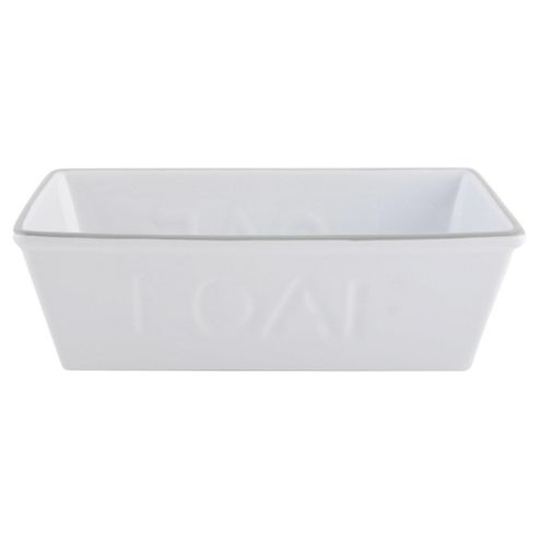 Ceramic Loaf Pan grey trim