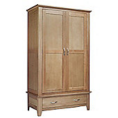 Sherwood Oak Double Wardrobe 1 Drawer
