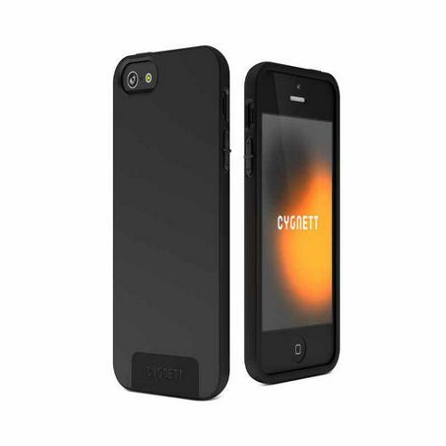Cygnett SecondSkin Silicone Case for iPhone 5 and Screen Protector - Black