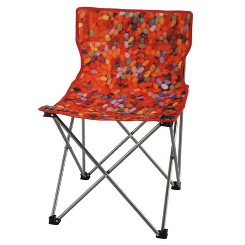 Tesco Festival Folding Camping Chair, Jelly Bean
