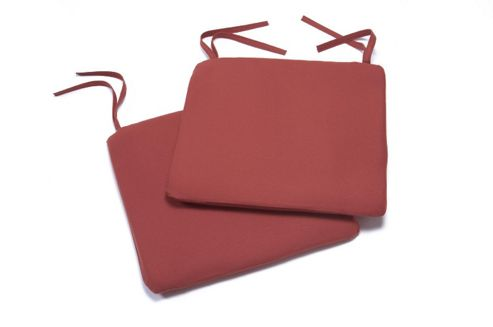 Bistro Seat Pads, Terracotta