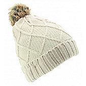 Audio Beanie Diamond Knit Cream