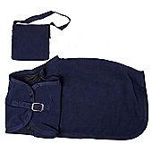 Blue Rocking Horse Blanket and Nose Bag