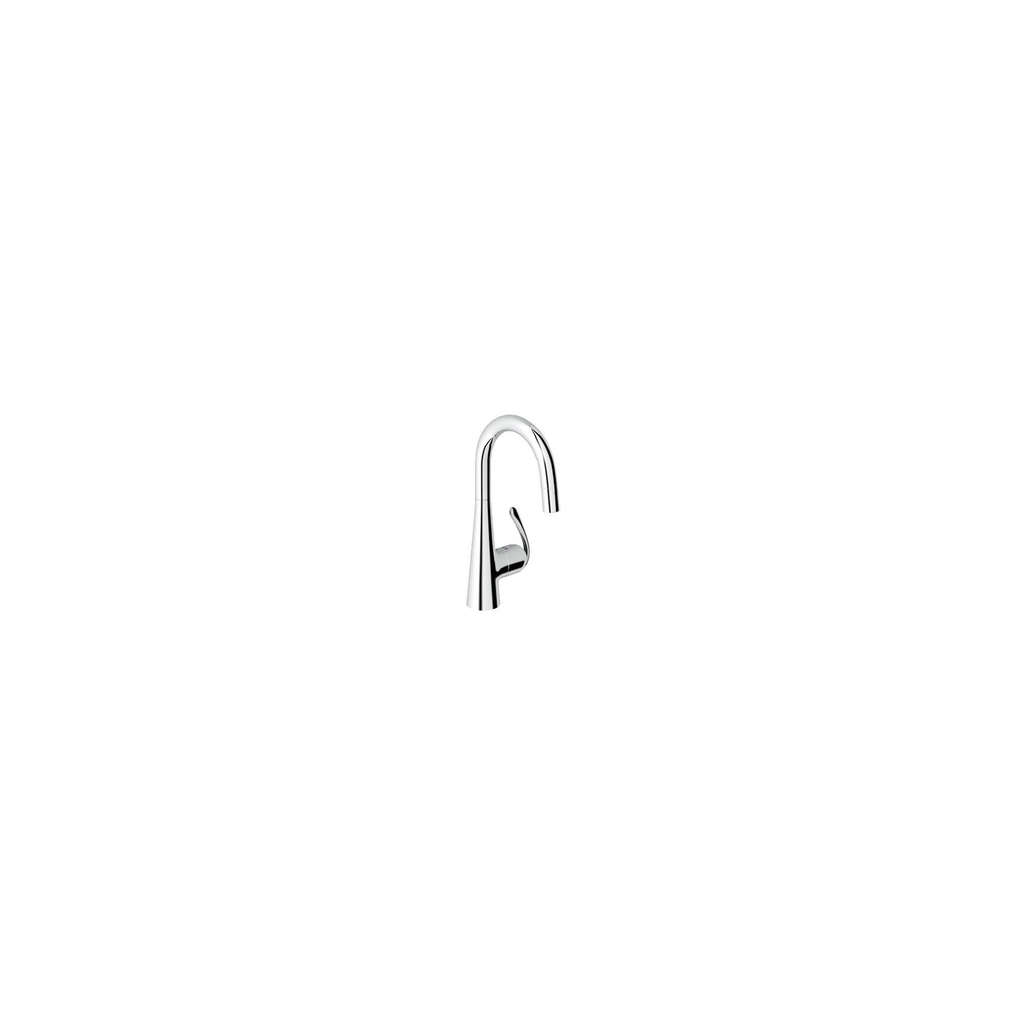 Grohe Zedra Mono Sink Mixer Tap, Pull-Down Spray, Single Handle, Chrome at Tesco Direct