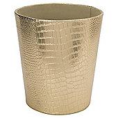 Tesco Faux Leather Golden Bin