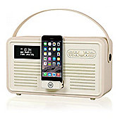 VQ Retro Radio MKII DAB+ and Bluetooth, cream