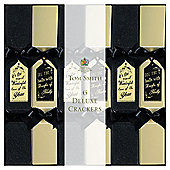 Tom Smith Deluxe Square Black and Gold Christmas Crackers, 6 pack