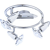Home Essence Lord 3 Light Ceiling Spotlight - White and Chrome
