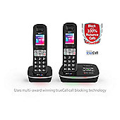 BT Advance BT8500 Twin Cordless Telephone , Black