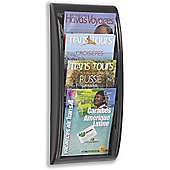 Fast Paper Quick Fit Literature Holder Wall-mount 4 x A4 Pockets W290xD95xH650mm Black Ref 4061.01