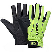 Optimum Hi-Vis Winter Cycling Gloves - Black / Fluo Green - Black & Green