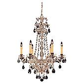 Savoy House Ma Antonieta Six Light Chandelier in Silver Lace
