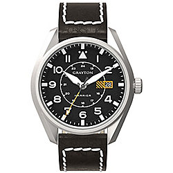 Grayton Harrier Mens Leather 24 hour Date Watch GR-0014-005.1