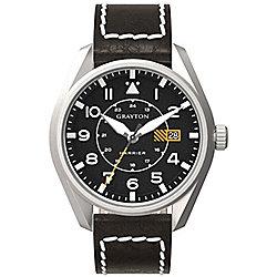 Grayton Harrier Mens Leather 24 hour Date Watch GR-0014-005.1