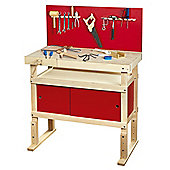 Young Carpenters Work Bench