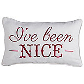 Christmas Naughty Nice Cushion