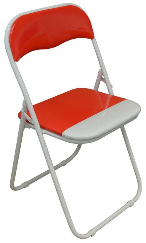 Buy Harbour Housewares Red White Padded Folding Desk Chair from our Garde