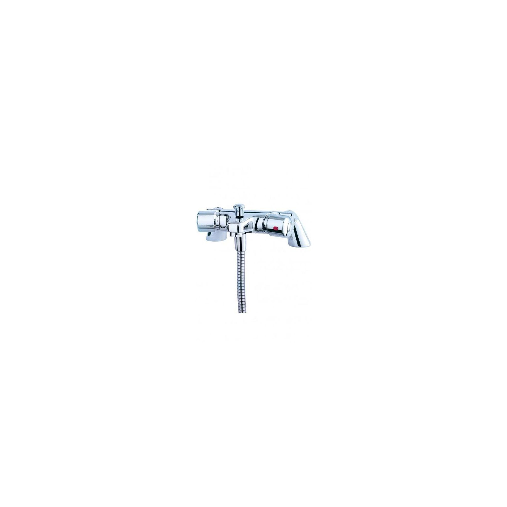 Triton Aire Thermostatic Bath/Shower Mixer with Wall Bracket Chrome at Tesco Direct