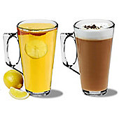 Rink Drink Tall Latte Coffee Glasses - 380ml (13.4oz) - Gift Box of 2