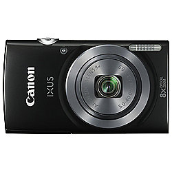 Canon IXUS 160 Digital Camera, 20MP, 8x Optical Zoom, Black