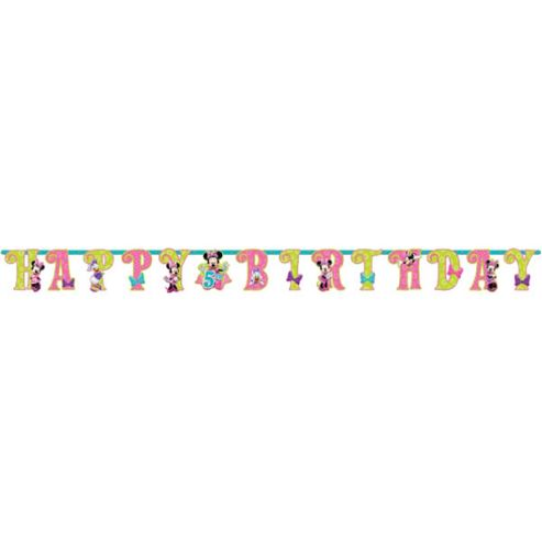 Minnie Mouse Party Add An Age Letter Banner - 2m (each)