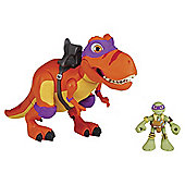 Teenage Mutant Ninja Turtles Half Shell Heroes Donnie and T-Rex Figures