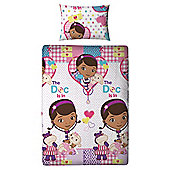 Disney Doc Mc Stuffins Single Bed Duvet set