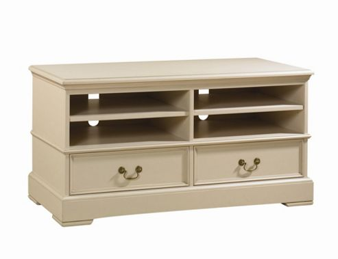 YP Furniture Country House TV Stand - Oak Top and Ivory