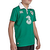 Ireland IRFU Kids Rugby Home Classic SS Shirt - 2015/16 - Green