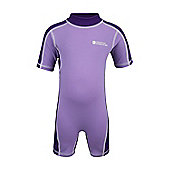 Rash Summer Beach Baby Toddler Kids Stretch High UV Protection Swim Suit - Purple