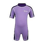 Rash Summer Beach Baby Toddler Kids Stretch High UV Protection Swim Suit - Purple