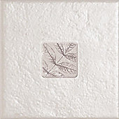 Ashbourne Leaf Natural Insert Ceramic Wall Tile 148x148mm Box of 6 (0.13 M² / Box)