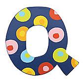 Tatiri TA317 Spots and Stripes Wooden Letter Q