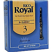 Rico Royal 3 Bb Clarinet Reeds (x10)