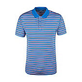 Quest Mens Striped Technical Polo Shirt - Multi
