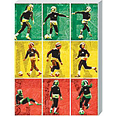 Bob Marley Football Is Part Of I Large Canvas Print
