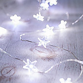 40 White LED Star Micro Battery Fairy Lights