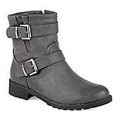 Pavers Ankle Boot with Buckles - Grey