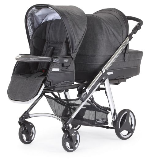 Bebecar One&Two Convertible Pushchair & Carrycot, Nickel