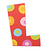 Tatiri TA312 Spots and Stripes Wooden Letter L