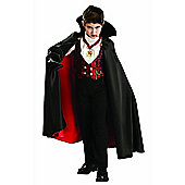 Rubies Fancy Dress - Transylvanian Vampire Costume - Boys Small - UK Size 3-4 years