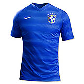 2014-15 Brazil Away World Cup Football Shirt (Kids) - Blue