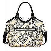 Isoki Reversible Hobo Changing Bag Retro Paisley