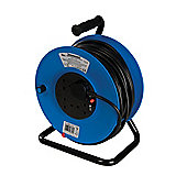 Silverline Cable Reel 240V Freestanding 13A 50m 4 Socket