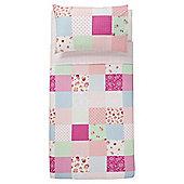 Tesco Bright Patch Duvet Cover Set, Multicoloured, Single
